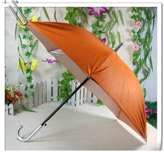 直桿銀膠廣告傘